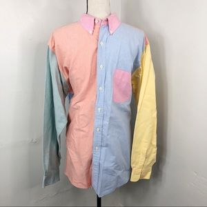 [SOLD] Vintage J. Crew Colorblock Button Down